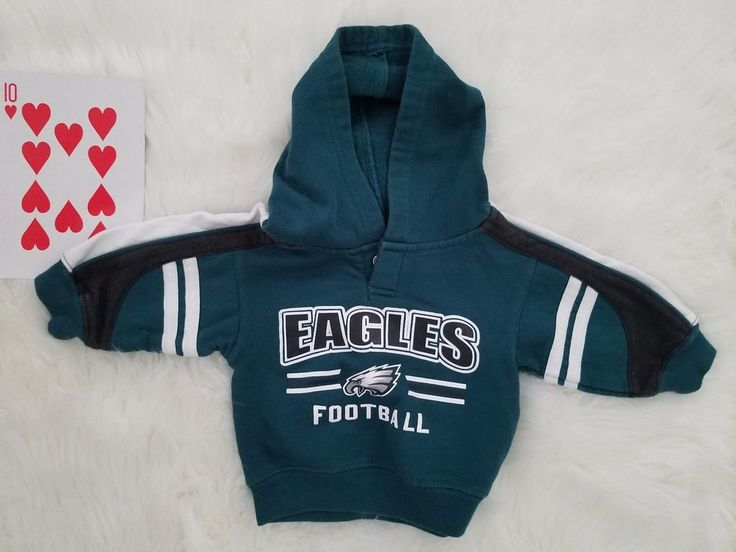 NFL Philadelphia Eagles Football Infant Baby Toddler Hoodie Jacket 12M Green  #NFL #Jacket
