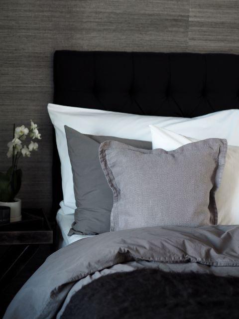 Maggiore percale-cotton bed linen, grey