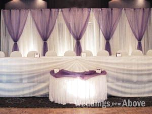 Wedding Reception Decoration : Toronto Wedding Decoration : Weddings From Above
