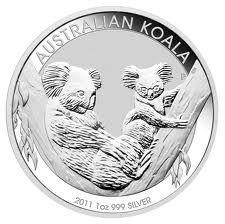 Australian Koala 1 Ounce Silver 2011   Golden Eagle Coins