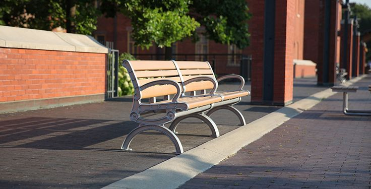 CAB-820 is a recycled plastic bench with an elegant touch. It is framed with casted iron for extra durability.