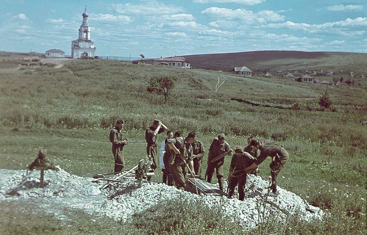 Magyar katonai temetés a fronton.