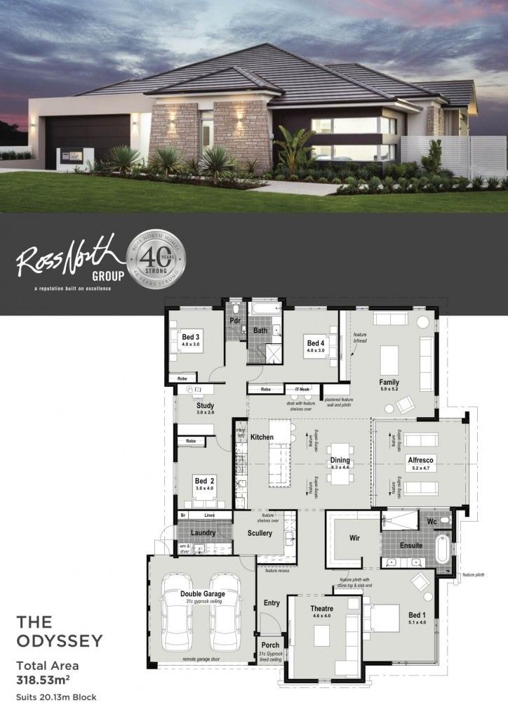Pin By Nicole Em On Home House Plans Beautiful House Plans Single Storey House Plans Contemporary House Plans