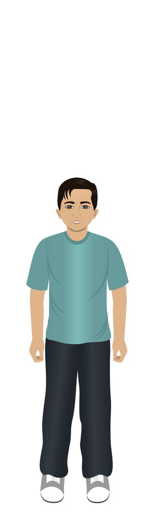 Indian boy avatar for eLearning with Adobe Captivate, Techsmith Camtasia, and Articulate Storyline.