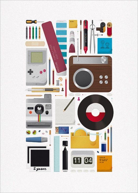 Ordinaire Andrea Manzati WATM Magazine Retro Office Supplies Illustration | Jared  Erickson