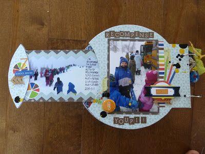 Mini album avec le kit de mini album et la collection Paper and Glue de Echo Park par Janie