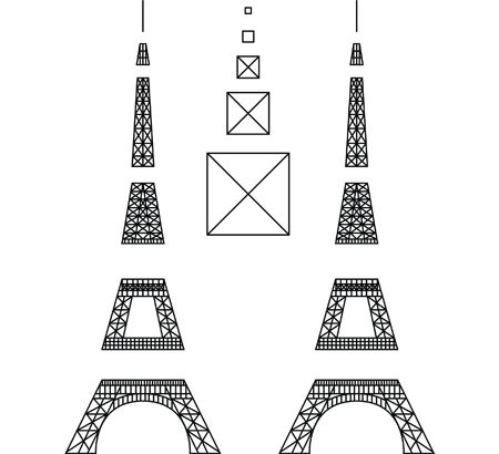 Eiffel tower 3doodler places to visit pinterest for Eiffel tower model template