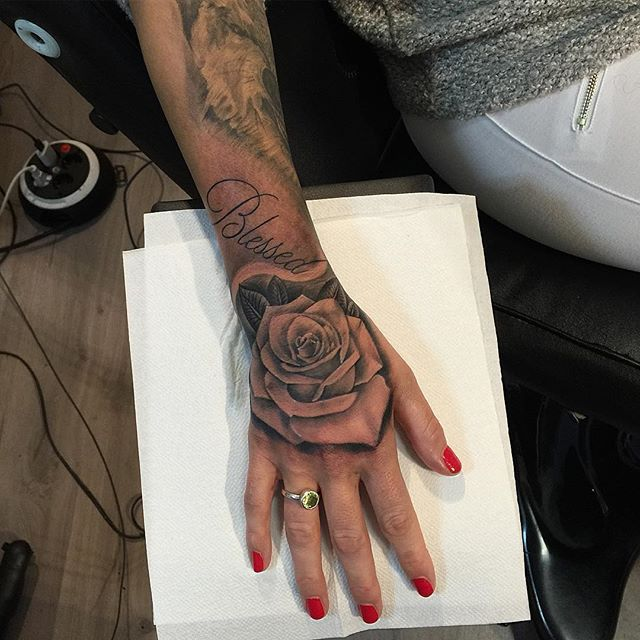 25+ Best Ideas About Rose Hand Tattoo On Pinterest