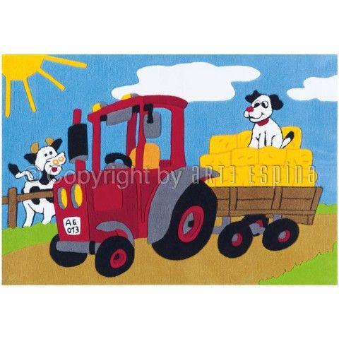 """Disponible sur Paris-Prix.com ! Tapis Arte Espina """"Kids Tracteur"""" Multicolore"""