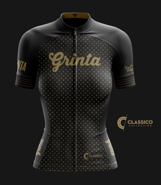 Classico Black + Gold Jersey: Grinta, Women – Grinta LLC