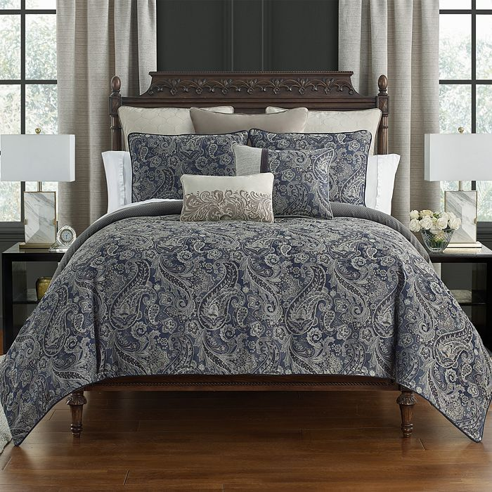 Waterford Danehill Reversible 4 Piece Comforter Set California King Comforter Sets Waterford Bedding Comforters