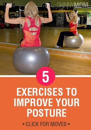 Find 5 exercises here on how to improve your posture and get rid of the back problems!