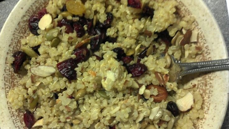 Cranberry fruit and nut quinoa | Plant Based Recipes | Pinterest