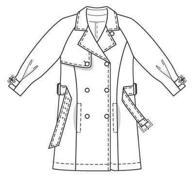 Burdastyle 03-2009-120 Trench coat, jacket length, 36-44
