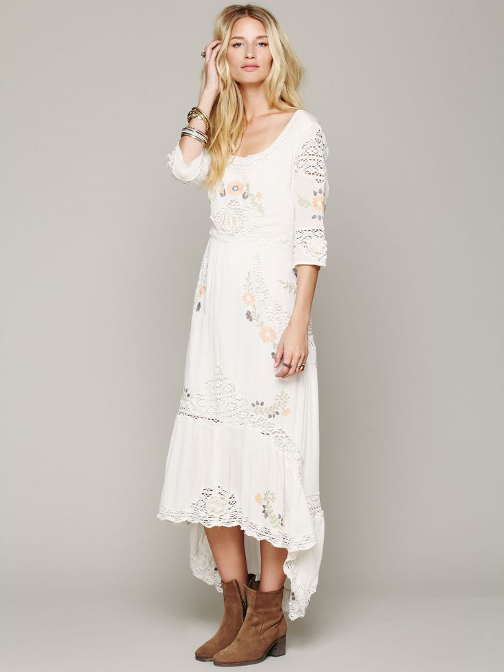 Free people mexican wedding dress my style pinterest for Mexican style wedding dress