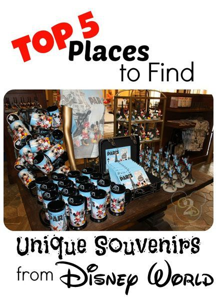 List of the top 5 places to find unique souvenirs at Disney World!