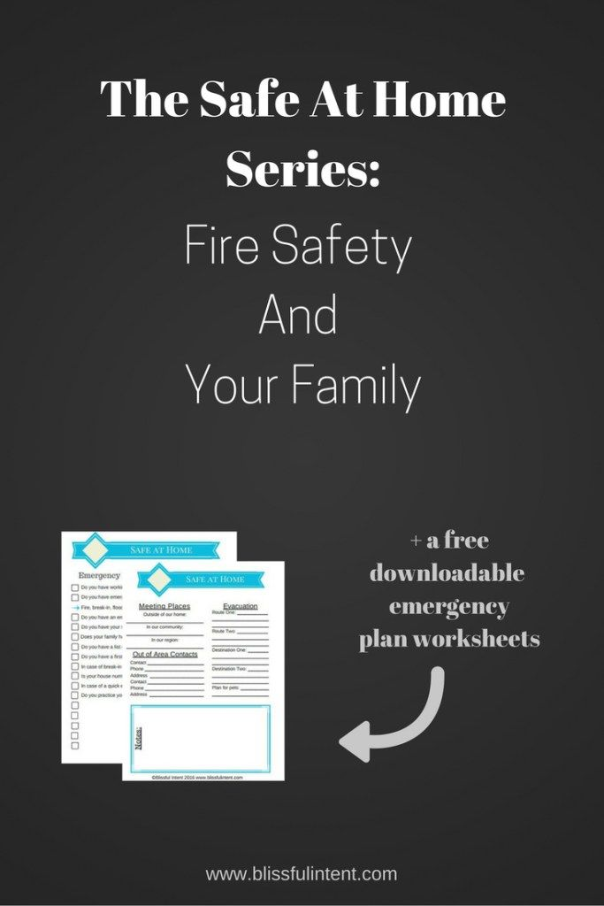 Have a fire safety plan and educate your children!  This could save your life!  Here are some great tips + free printable checklist/worksheet.