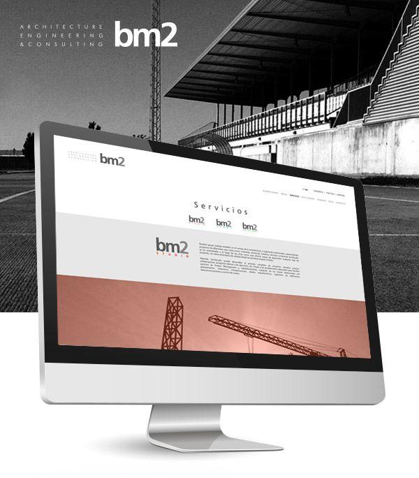 Así es el diseño de una de las categorías de la web del estudio bm2. Elegancia y sencillez ligadas en una web de diseño.