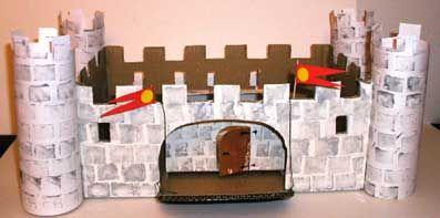 Fabriquer un château-fort, peinture au tampon (de pomme de terre)