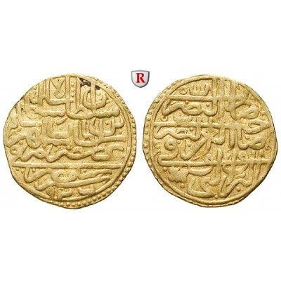 Osmanisches Reich, Süleiman I., Dinar AH 926 (1520), ss: Süleiman I. 1520-1566. Dinar AH 926 (1520). Beidseitig Schrift. Friedb. 1;… #coins