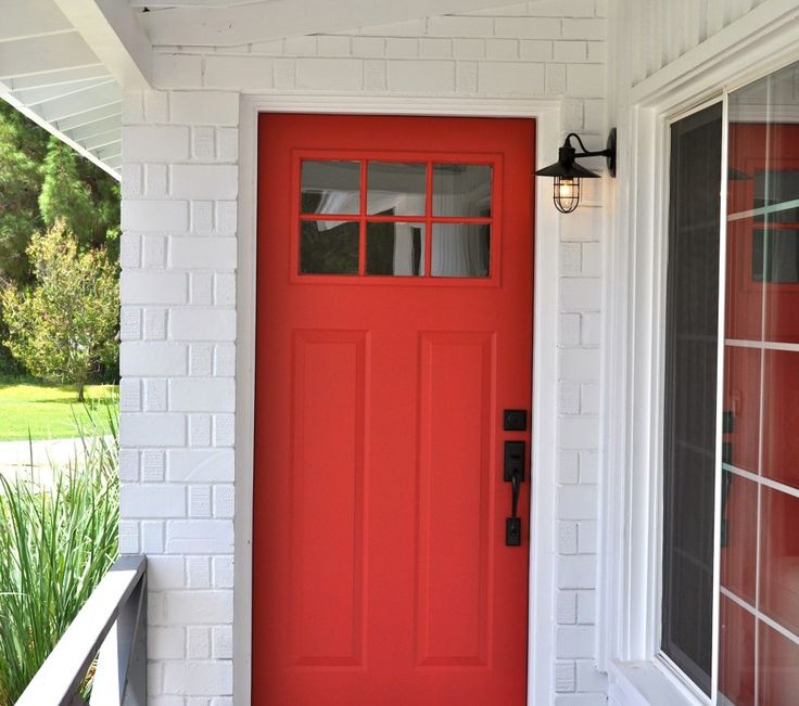 This Is My Color Front Door, LOVE The Black Hardware With It