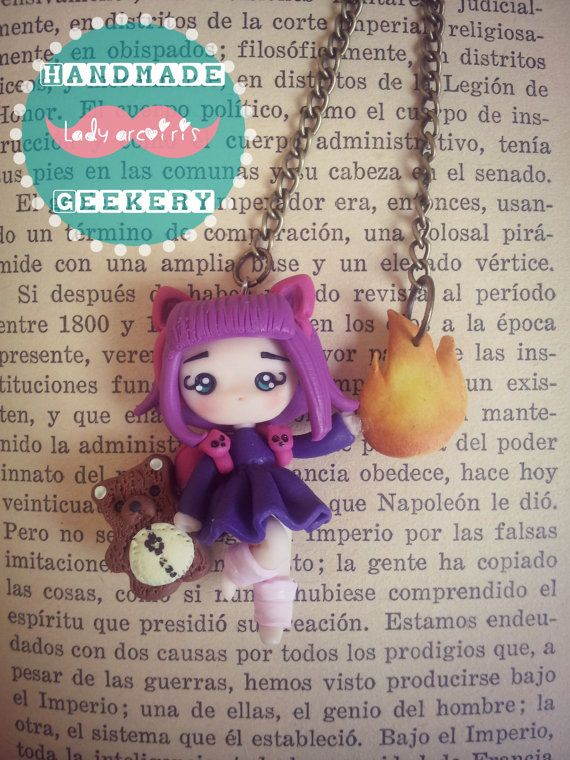 Collar de Annie (LOL) hecho en Fimo/ Annie (League of Legends) necklace made in polymer clay.