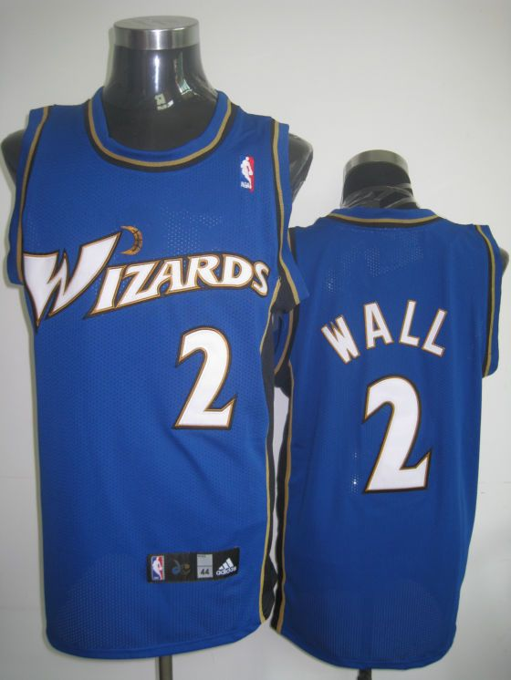 wizards 2 john wall embroidered blue nba jersey only 20.50usd