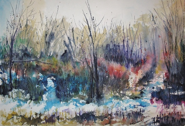 """Colors of Winter"", watercolor."