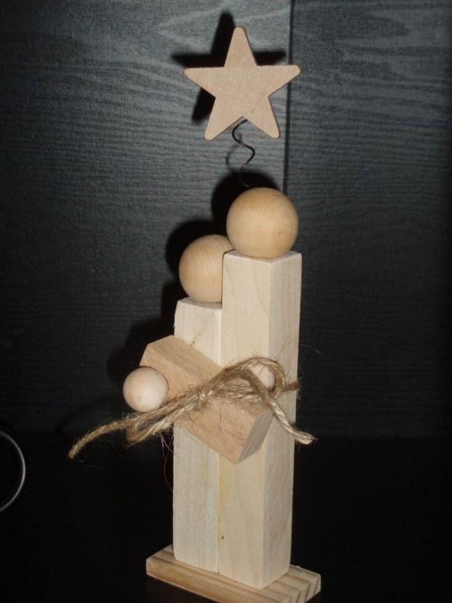 minimalistische Tischdeko-Jesus und Maria aus Kantholz-origineller Weihnachtsschmuck