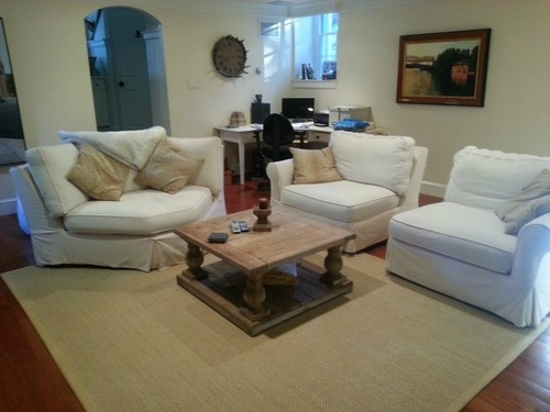 Sectional Sofa Three Piece Baldwin Slipcovered From Ballard Design | EBay