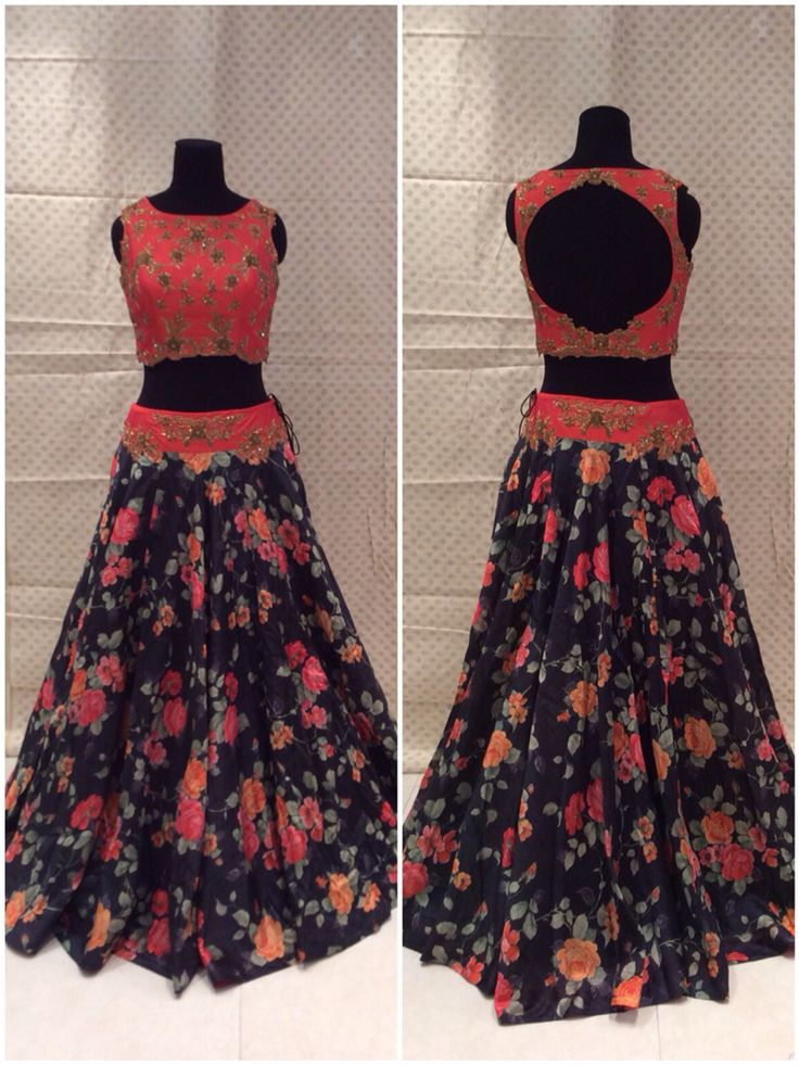 Peach red floral lehenga.. pretty