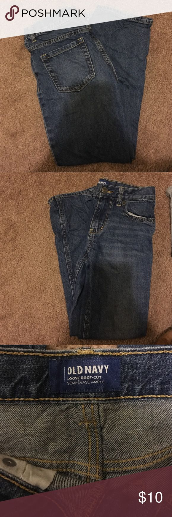 Boys old navy jeans Boys size 8 loose cut boot jeans. Old navy. Barely worn. Old Navy Bottoms Jeans