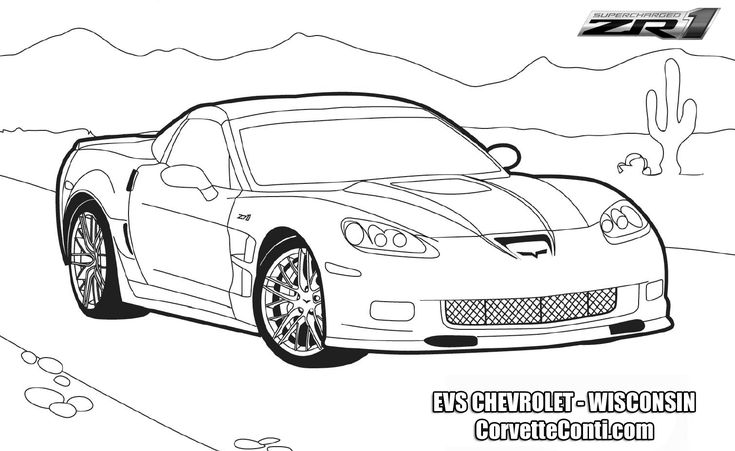 image result for corvette coloring pages