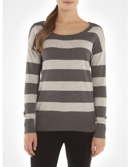 Chandail rayé à manches longues / Striped long sleeve sweater www.jacob.ca @Boutique JACOB and #JACOBGIFTS