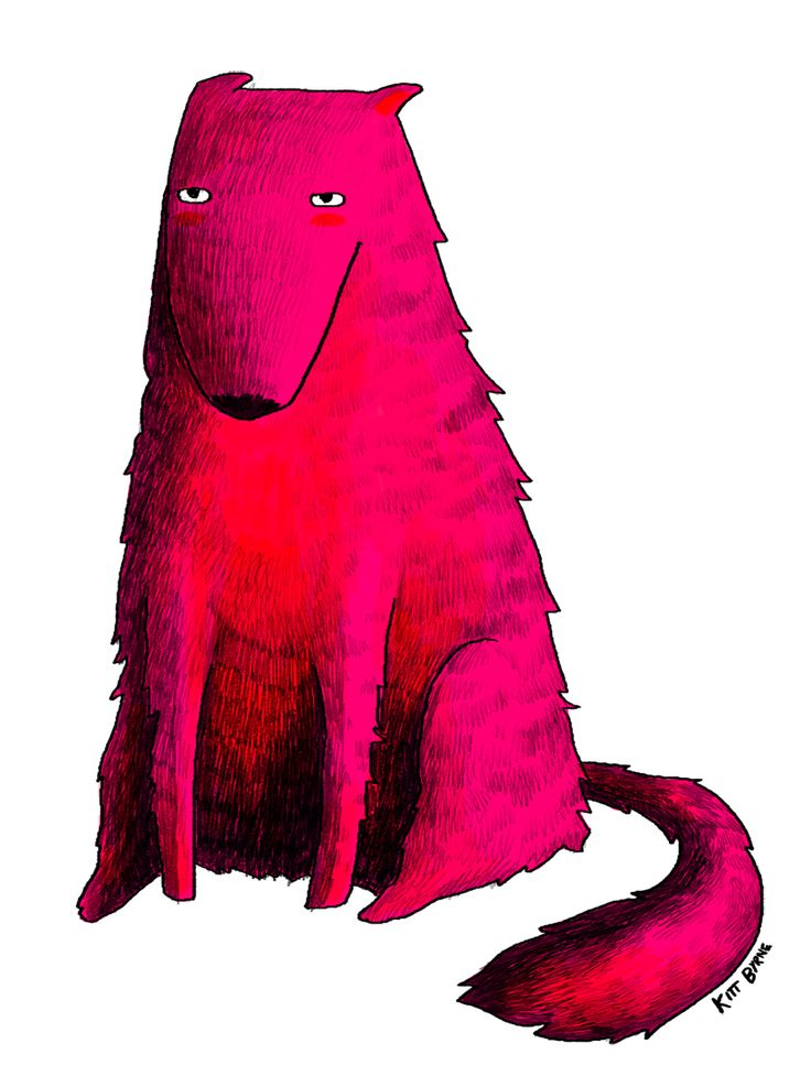 Wolf by Kitt Byrne #illustration #illustrated #wolf #dog #lupes #loup #pink