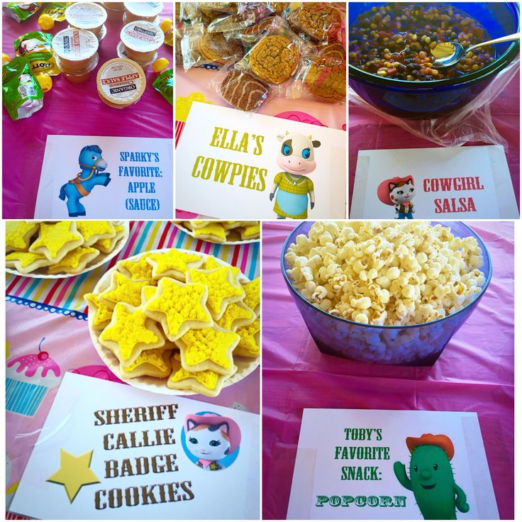 Sheriff Callie cowgirl party food