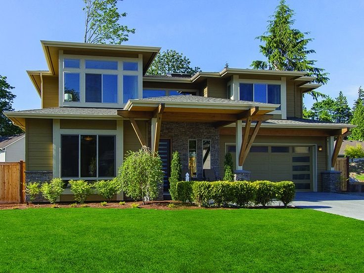 Natural light fills this beautiful contemporary home plan hwepl77235 at eplans com every modern house plansdream