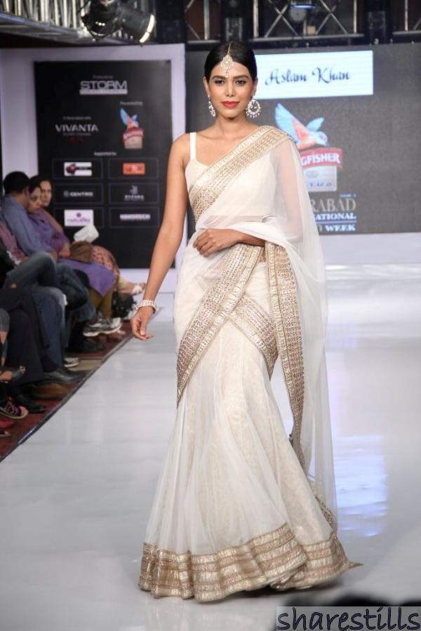 Beautiful white saree