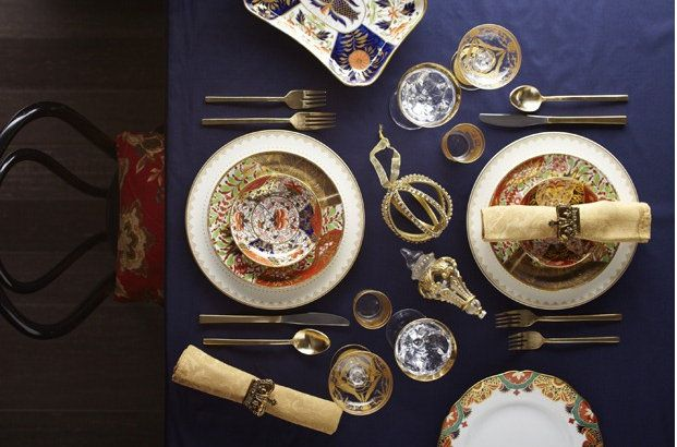 Cinnabar and Cobalt table setting & 15 best table setting images on Pinterest | Harvest table ...