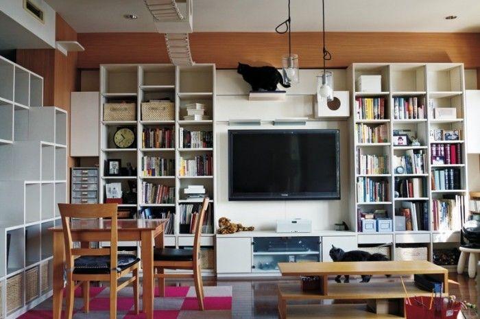 水品さんのリクエストである蔵書をたっぷり収納できる本棚と キャットウォークの動線が見事に融合した部屋になっている 住まい インテリア 自宅で ホームライブラリー