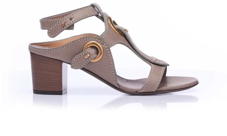 Suede #sandal with square heel and ground level sole. @Salvatore Ferragamo Official