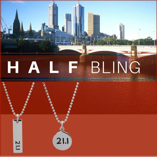 $60 Sterling Silver Half Marathon Necklace http://beyondthemedal.com.au/collections/21-1km-running-jewellery