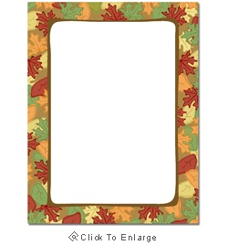 Artistic Fall Leaves Autumn Laser & Inkjet Printer Paper - $12.99