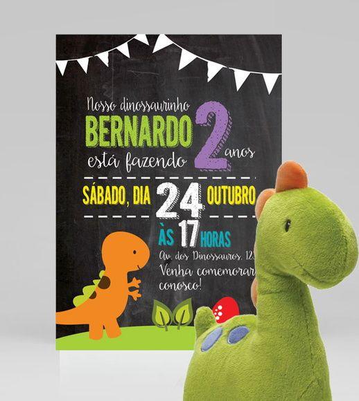 Convite Dinossauros | Festa Dinossauros