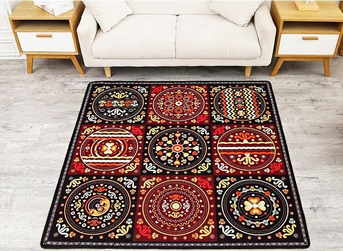 Superior Ethnic Style Nylon Carpet, Square Floor Carpet And Rugs For Living Room,  Dining Room