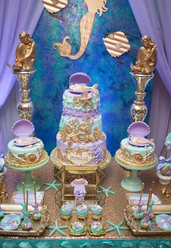 Charming Blue Green Under The Sea Baby Shower   Baby Shower Ideas   Themes   Games