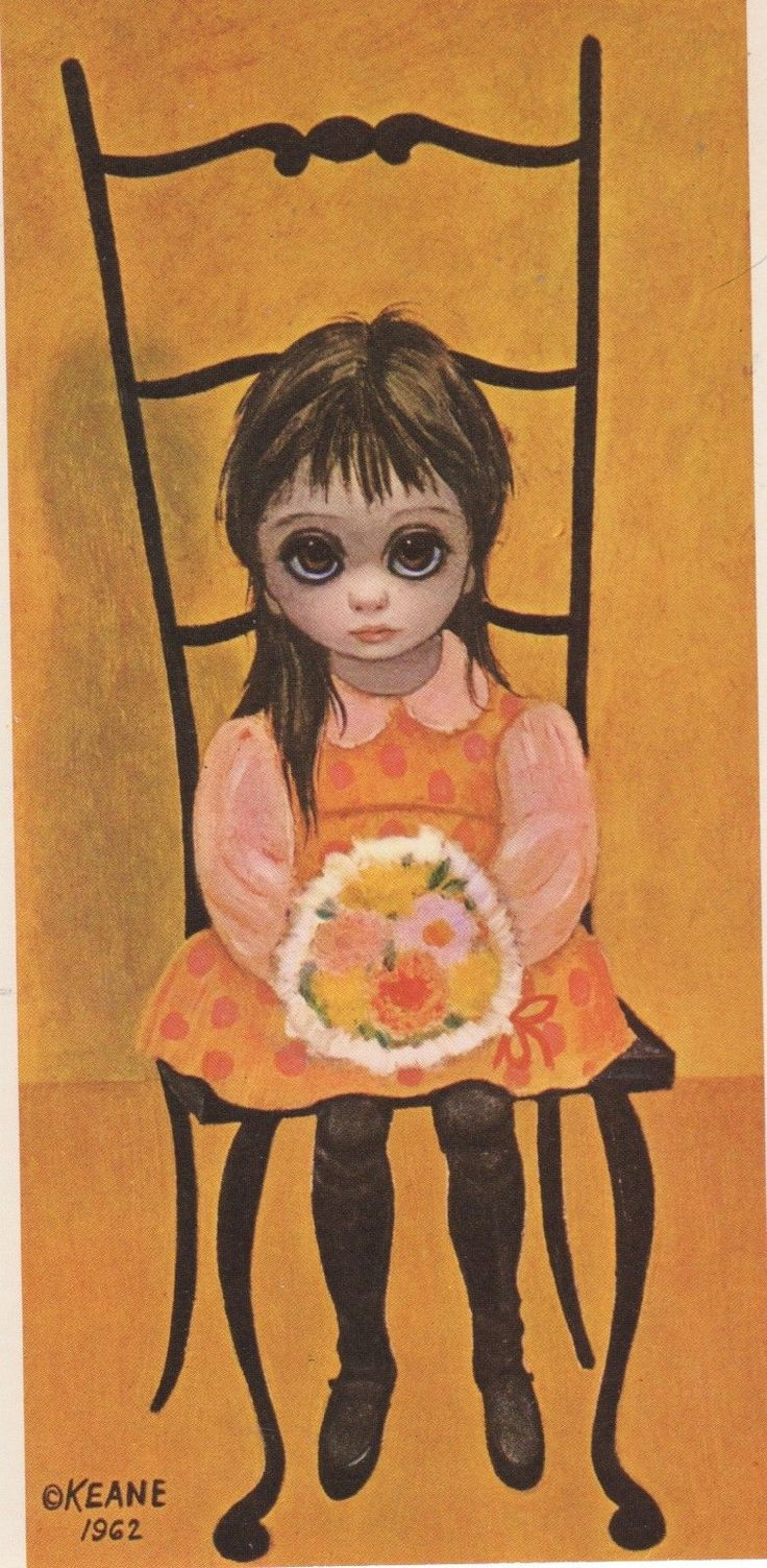 Children Post Card by Walter Keane 1962