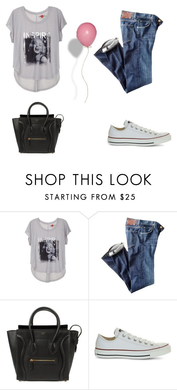 Untitled #37 by leenap on Polyvore featuring Citizens of Humanity, Converse and CÉLINE