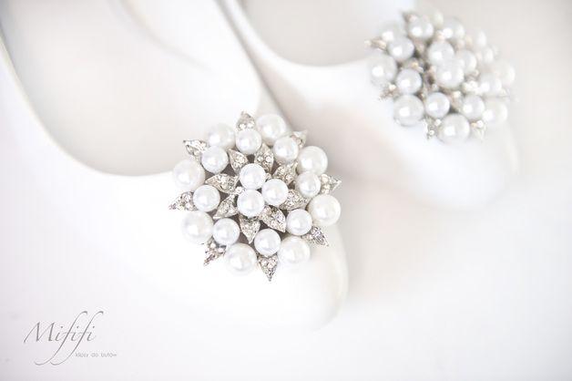 Duże Kwiaty z perłami- klipsy do butów Mififi - Mififi-klipsy-do-butow - Klipsy do butów