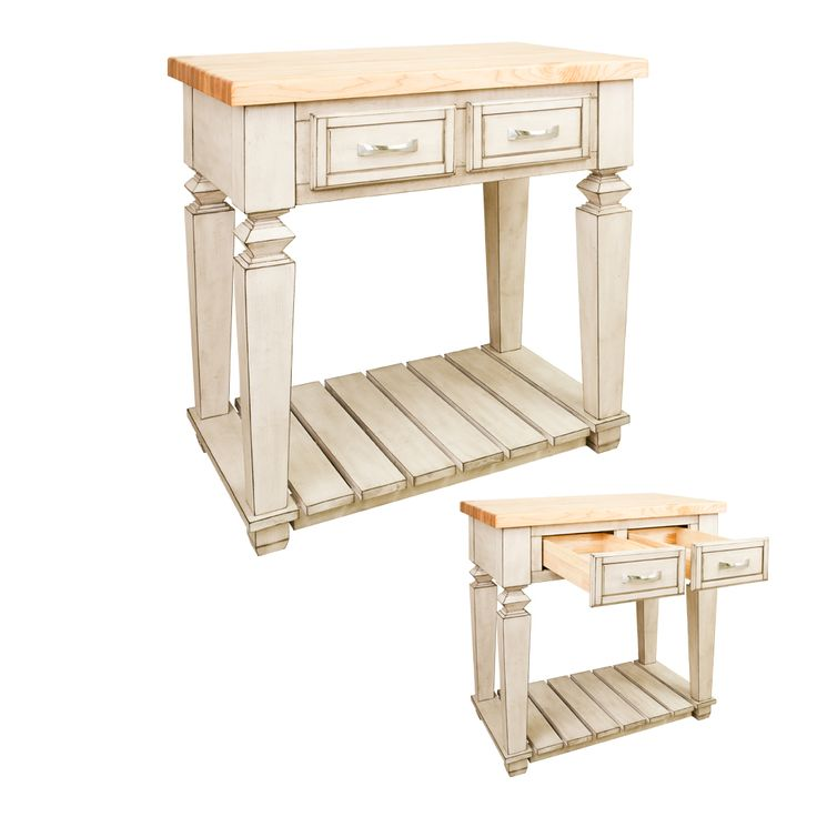 Furniture Style, Antique White, Kitchen Island: 33-15/16